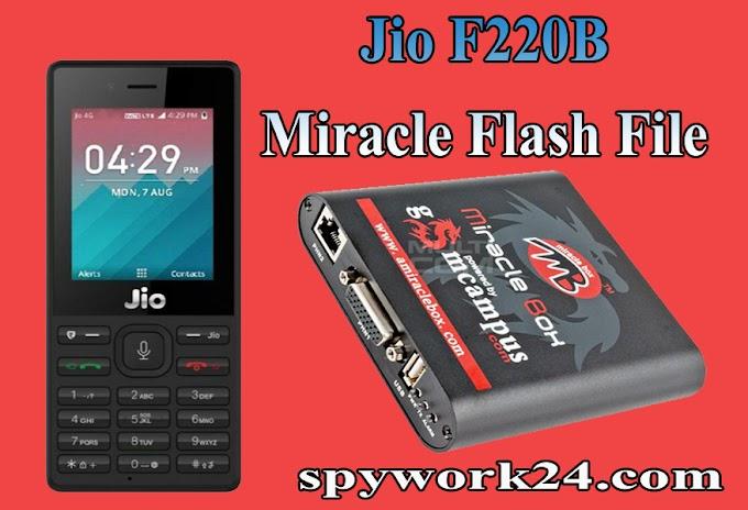 Jio F220B Miracle Flash File
