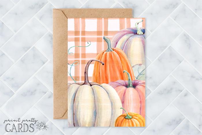 Pumpkin Card for Fall