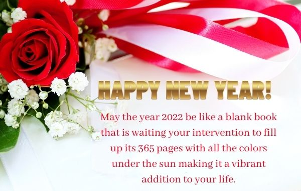 Happy New Year Best Messages in English - New Year Wishes 2022 greeting card