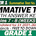 GRADE 1 UPDATED SUMMATIVE TESTS NO. 4 for SY 2021-2022 (Q1: Weeks 7-8) With Answer Keys