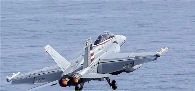 US Navy EA-18G Growler fighter jet. File photo: AFP
