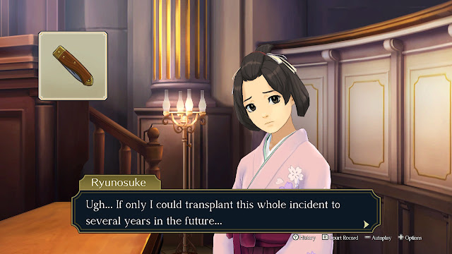 The Great Ace Attorney Adventures fingerprinting jackknife transplant incident into future
