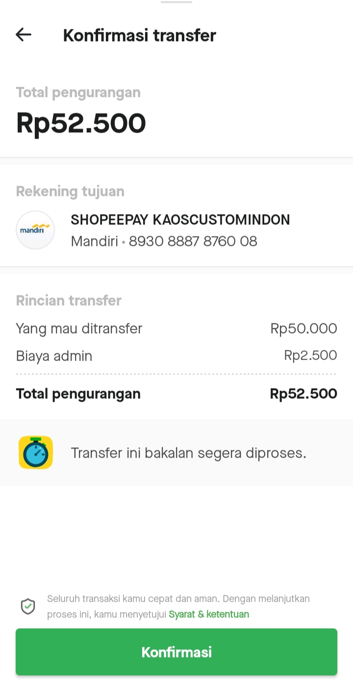 Cara Transfer Gopay ke Shopeepay