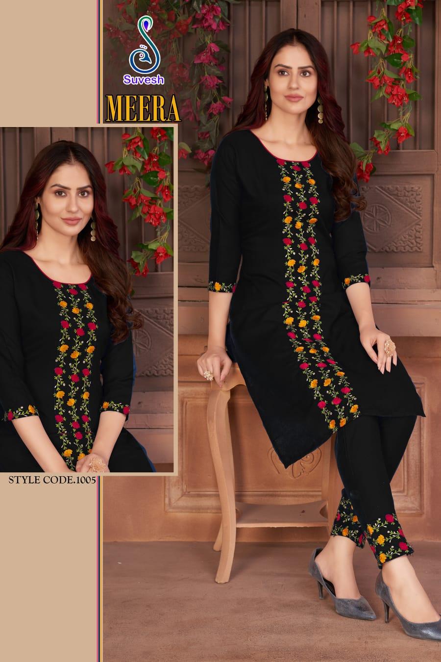 Suvesh Meera Kurtis Pant Set Catalog Lowest Price