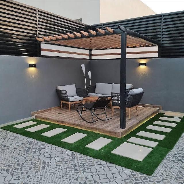 شركة تنسيق حوش المنزل بالطائف شركة الطارق تركيب العشب الصناعي الطائف