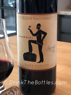 2016 Krupp Brothers Black Bart Syrah Port label