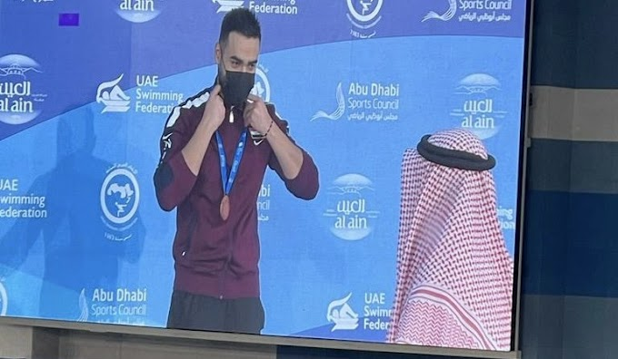 عراقيان يحصدان ميداليتين في البطولة العربية للسباحة