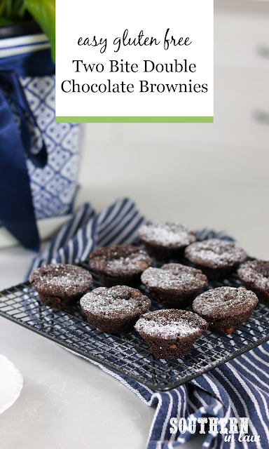 Easy Two Bite Gluten Free Brownies Recipe - Double Chocolate Brownie Bites Recipe