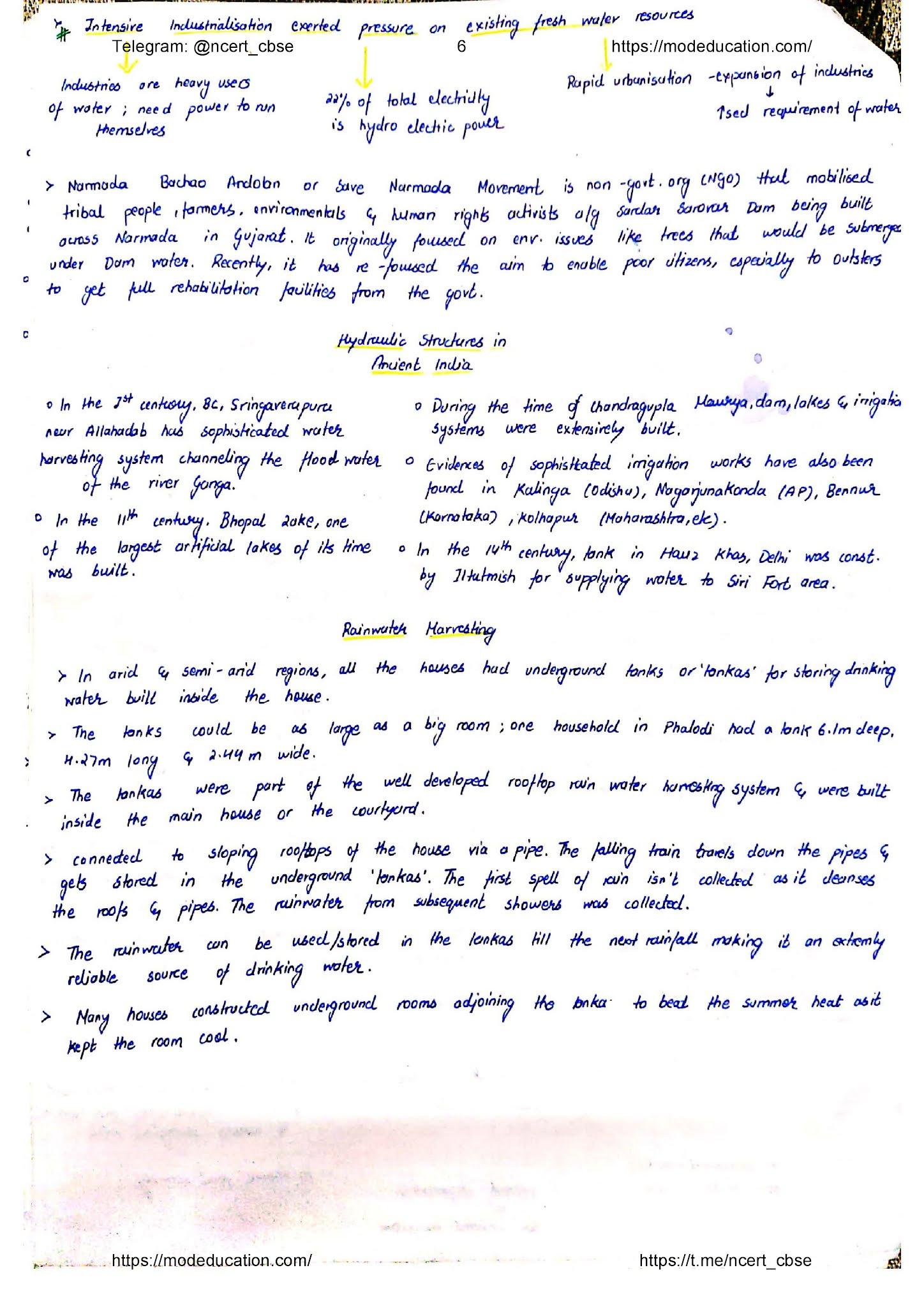 Class 10 Geography Handwritten Notes, class 10 geography chapter 3 handwritten notes