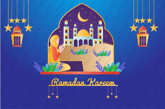 Flat ramadan kareem illustration free vector download