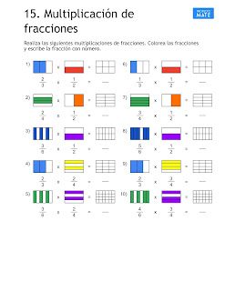 Multiplicación de fracciones ejercicios