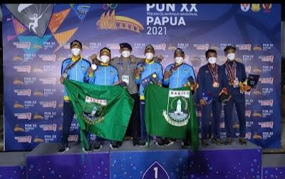 cabang olahraga Paralayang dapat menyumbangkan 1 medali Emas dan 2 medali Perak untuk kontingen Banten