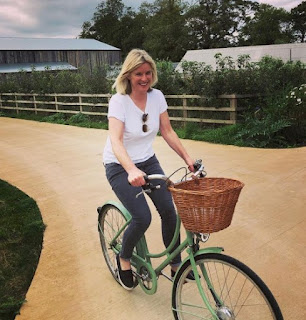 Picture of Sarah Stirk riding the bicycle