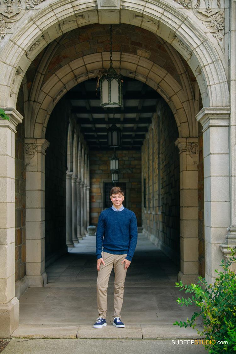 Huron High School Senior Pictures for Guys in Michigan Law Quad by SudeepStudio.com Ann Arbor Senior Pictures Photographer