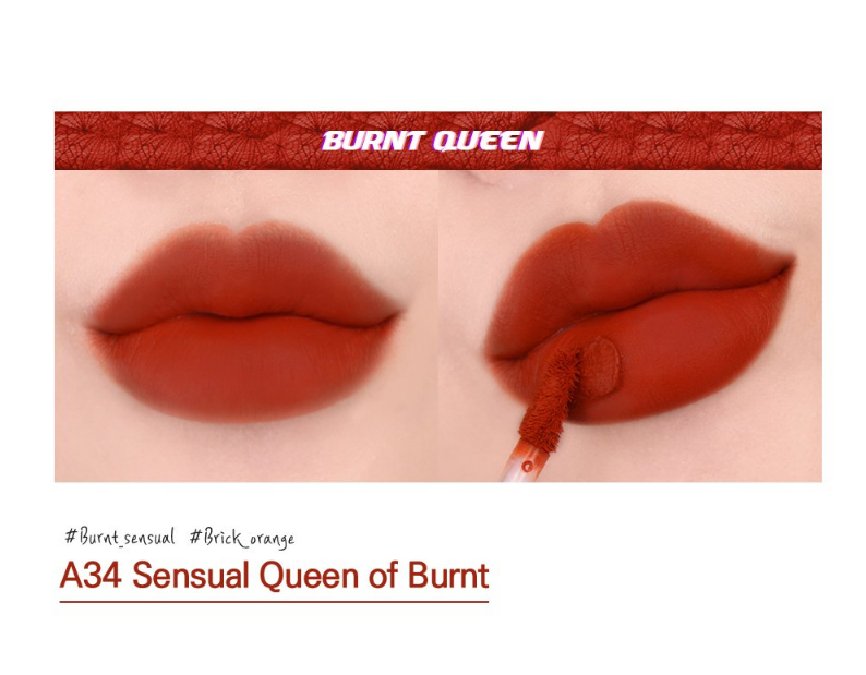 Son Black Rouge màu A34 - Sensual Queen of Burnt