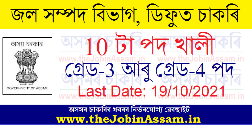 Water Resources Division, Diphu Recruitment 2021 - Apply for 10 Grade-III & Grade-IV Vacancy
