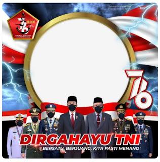 Twibbon hut TNI ke 76 dirgahayu tentara indonesia - kanalmu