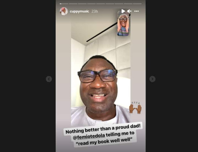 Read Your Book well well- Femi Otedola tells his daughter, DJ Cuppy as she studies at Oxford University