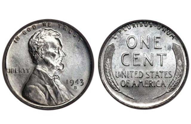 1943 silver penny no mint mark