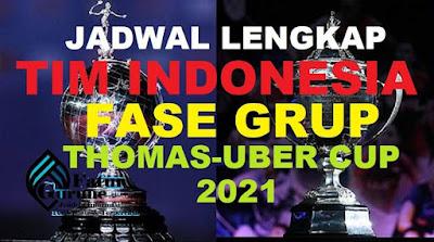 Jadwal Lengkap Fase Grup Tim Indonesia di Turnamen Thomas dan Uber Cup Aarhus Denmark 2021