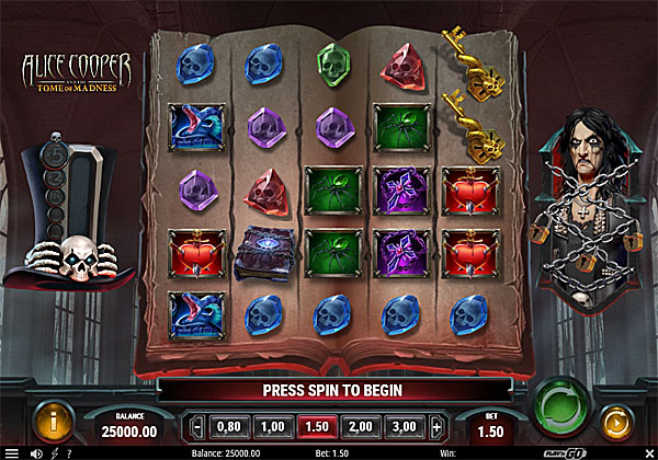 Main Gratis Slot Indonesia - Alice Cooper And The Tome Of Madness Play N GO