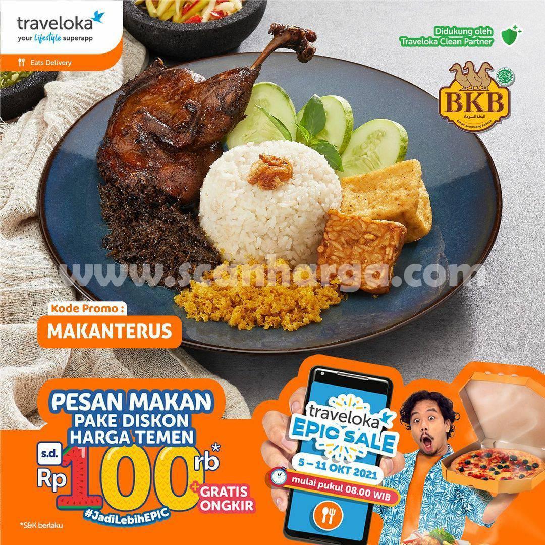 Promo BEBEK BKB DISKON Rp. 100.000 via Traveloka Eats