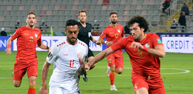 ملخص اهداف مباراة سوريا ولبنان (2-3) تصفيات كأس العالم