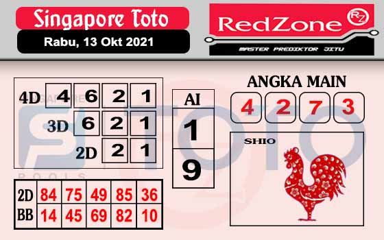 Redzone SGP Rabu 13 Oktober 2021
