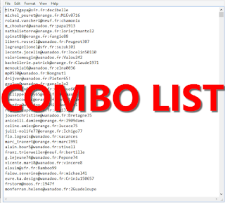 194k COMBOLIST MIX [ EMail:Password ]