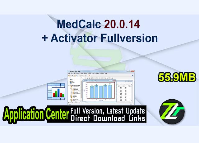 MedCalc 20.0.14 + Activator Fullversion