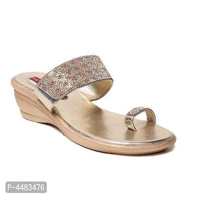 Womens Self Design One-Toe Synthetic Fancy Flats   Womens Flats Online   Womens Sandals Online Shopping  