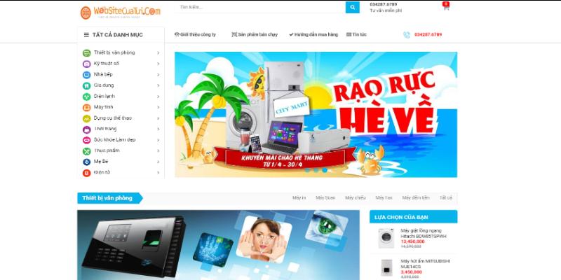 Mẫu website bán đồ điện tử online