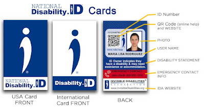 National Disability ID Cards for USA, International, and the back of the card