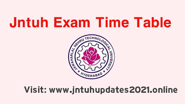 Jntuh exam time table