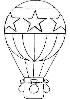 Desenhos de balão para colorir