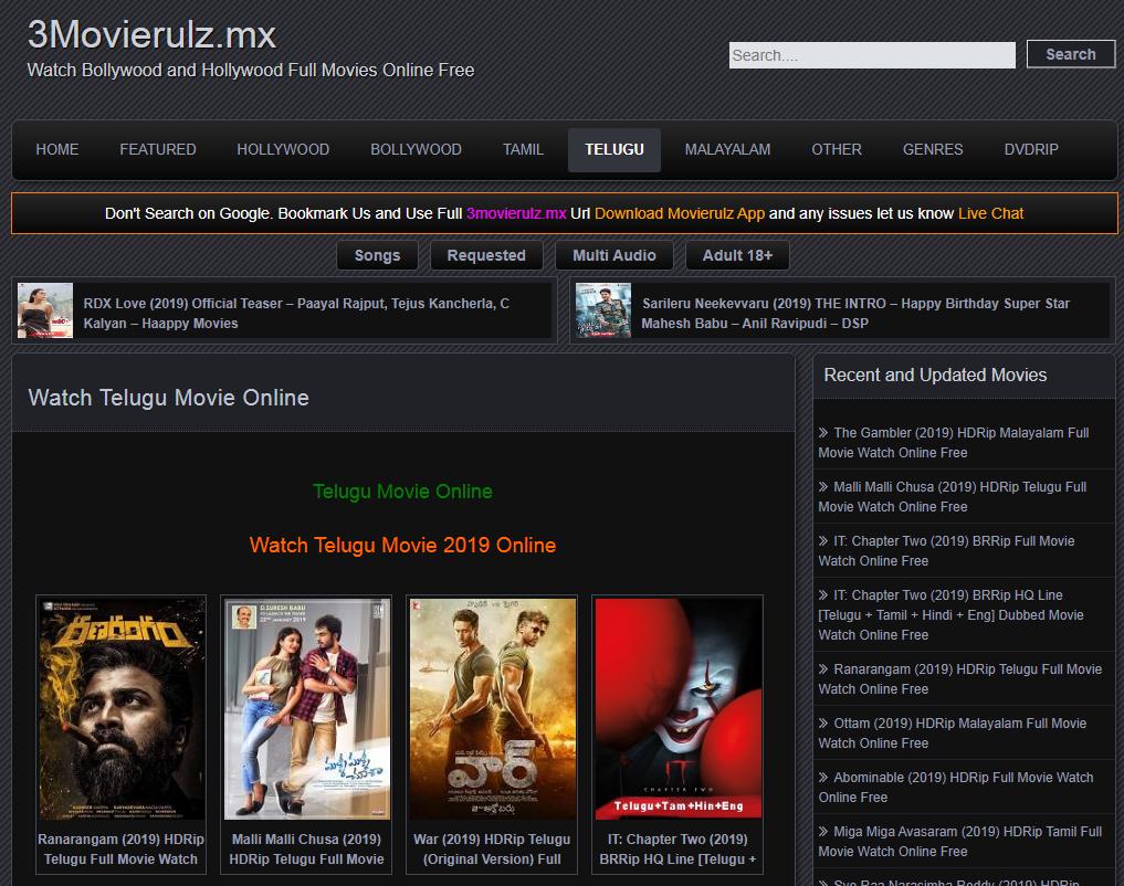 3Movierulz Watch Telugu Tamil