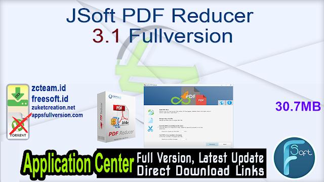 JSoft PDF Reducer 3.1 Fullversion