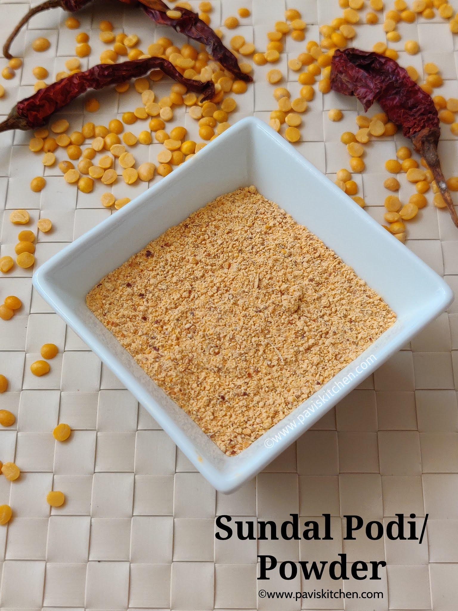 Sundal podi recipe   Sundal masala powder for poriyal   Sundal powder recipe