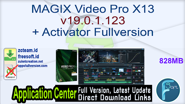 MAGIX Video Pro X13 v19.0.1.123 + Activator Fullversion