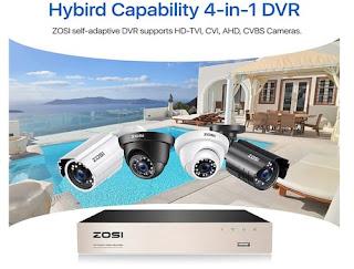 ZOSI H.265+ 5MP Lite Hybrid 4-in-1 HD Video Recorders