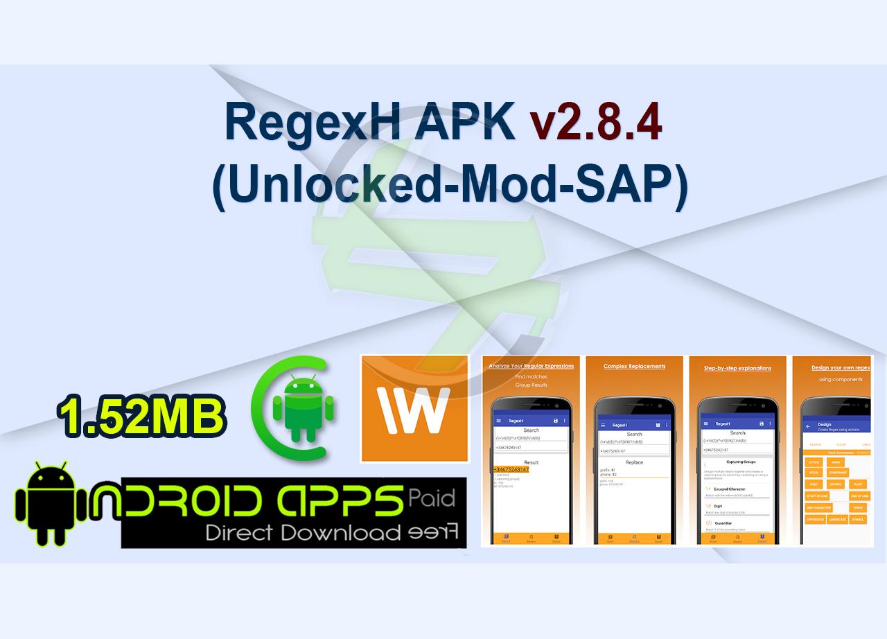 RegexH APK v2.8.4 (Unlocked-Mod-SAP)