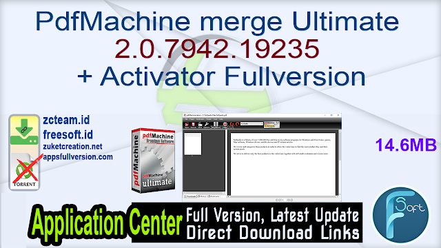 PdfMachine merge Ultimate 2.0.7942.19235 + Activator Fullversion