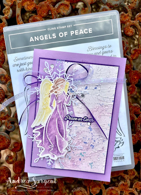Share Christmas joy, having explored the soft pastel colouring of angels, by Andrea Sargent, Australia.