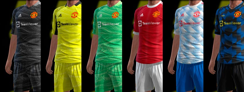 Manchester United 21-22 Kits For PES 2013