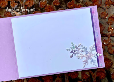 Share Christmas joy, having explored the soft pastel colouring of snowflakes, by Andrea Sargent, Australia.