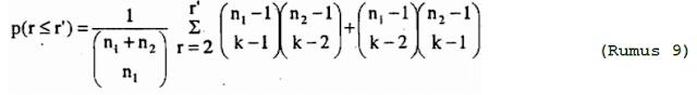Test Run Wald-Wolfowitz dengan nilai r ganjil