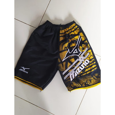 Celana Mizuno Pendek Pria Remaja Olahraga Volly Full Printing Polos Original Murah