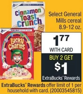 FREE Cinnamon Toast Crunch Cereal at CVS