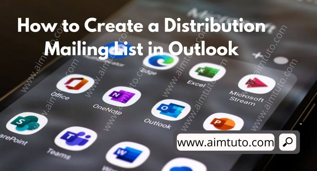 how to create a distribution mailing list in outlook
