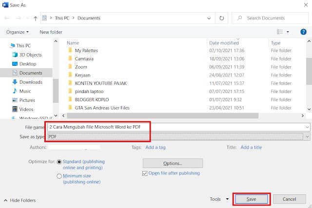 2 Cara Mengubah File Microsoft Word ke PDF (Convert Word to PDF) Secara Online dan Offline